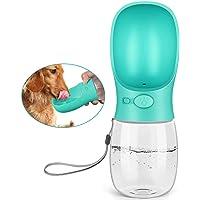 Kalimdor Botella de agua para perro, 12 onzas, a prueba de fugas, dispensador de agua portátil para cachorros con…