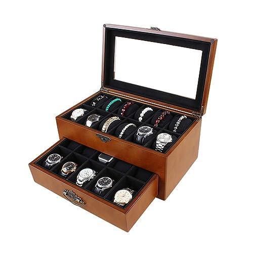 Cajas para Joyas Caja Joyero Cajas Y Organizadores Mosaico De Roble De Gran Tamaño Acabados 22 Rejilla Caja De Reloj De Madera Maciza ZHAOYONGLI: Amazon.es: ...