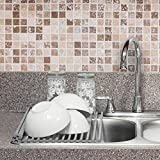 HOME&CO [SGS-certified] Over the Sink Dish Drying Rack Foldable [Non-slip] Silicone Roll-Up Compact Mat Dish Drainer 20.5-inch (L) x 13.1-inch (W) (Silver)