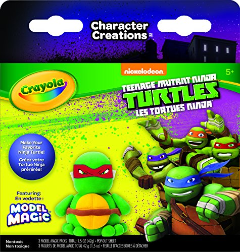 Crayola Teenage Mutant Ninja Turtles Model Magic Character Creations Art Kit -