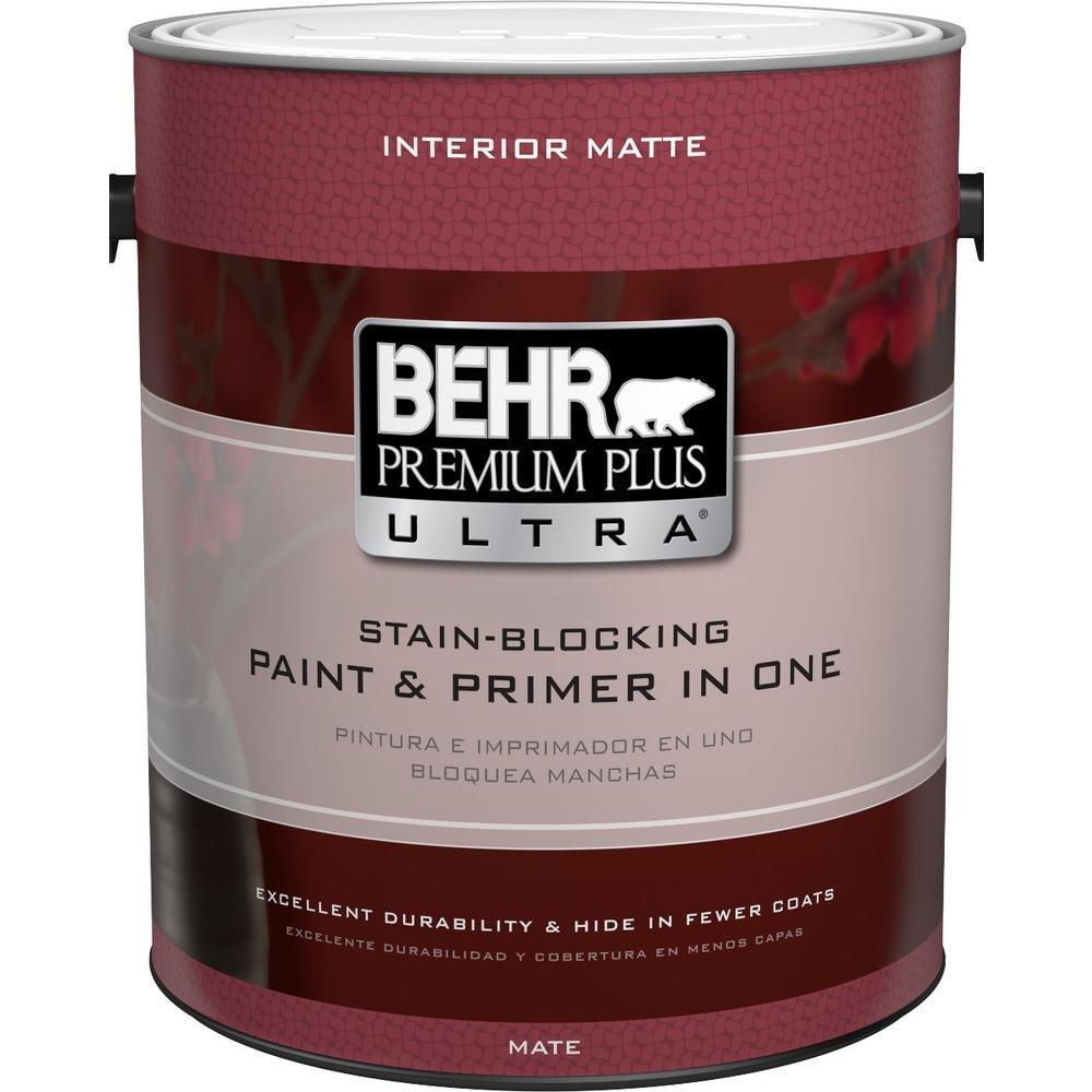 Delicieux BEHR Premium Plus Ultra 1 Gal. Ultra Pure White Flat Enamel Interior Paint
