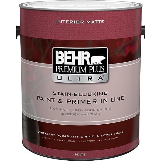 BEHR Premium Plus Ultra 1-Gal  Ultra Pure White Flat Enamel Interior Paint