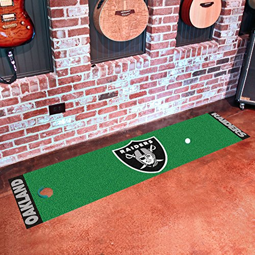 Fanmats NFL Oakland Raiders Nylon Face Putting Green Mat by Fanmats (Image #1)