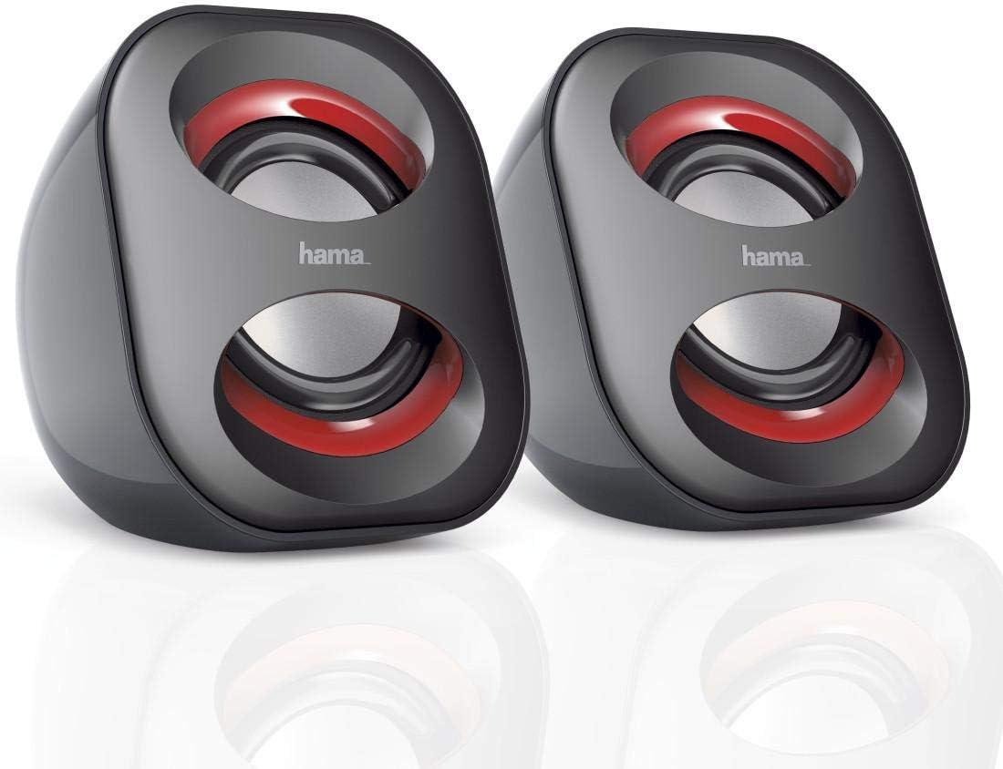 Hama 00173131 - Altavoces portátiles, Color Negro y Rojo