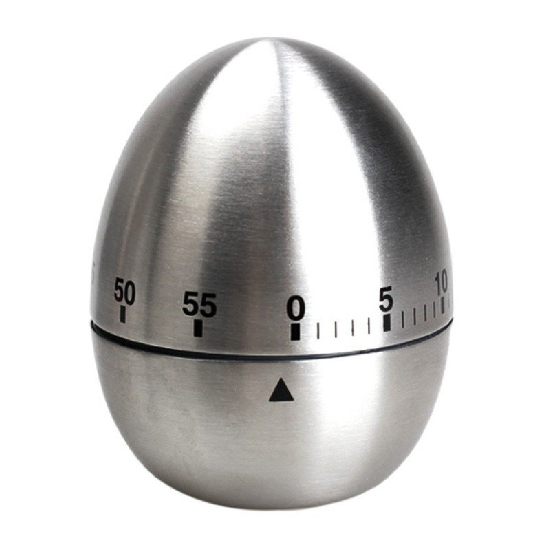 Stainless Steel 60 Minutes Kitchen Timer Egg Shape Mechanical Dial BU-Bauty TRTA11A