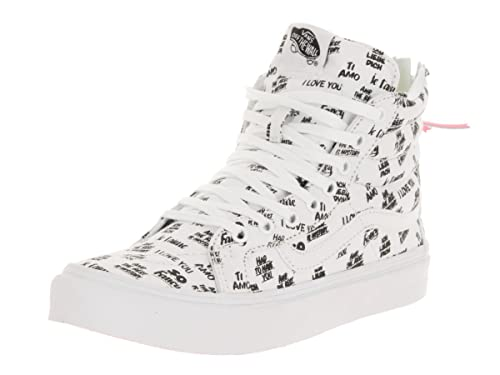 1f738bbbd9 Vans Baron Von Fancy White Black SK8-Hi Slim Zip Trainers  Amazon.ca  Shoes    Handbags