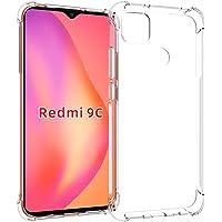 USTIYA Funda para Xiaomi Mi Redmi 9C Case Carcasa Bumper,Shock-Absorción TPU Transparente con Cuatro Esquinas…