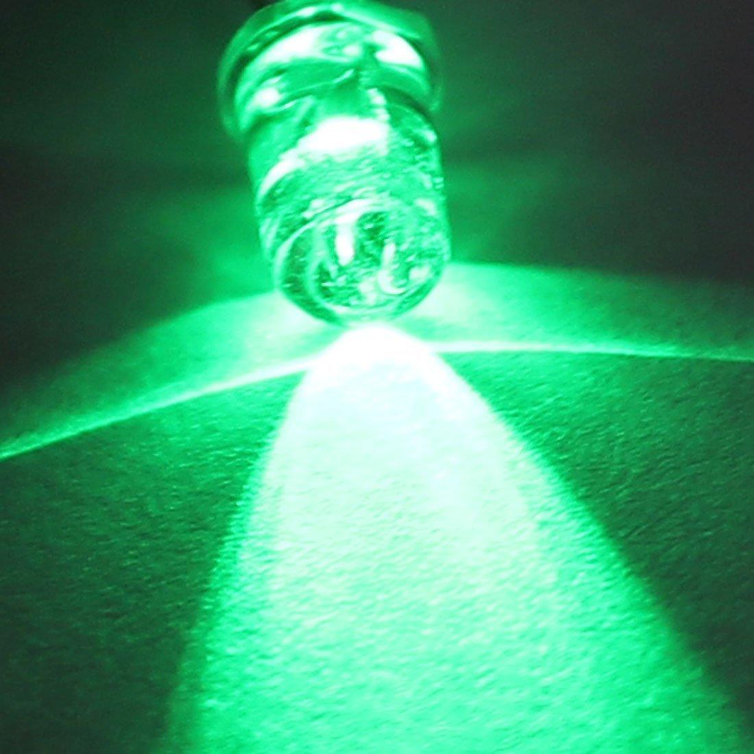 5 mm LED transparente eDealMax Lampe Cap 2 Borne Emitting Diodes frais Green Light