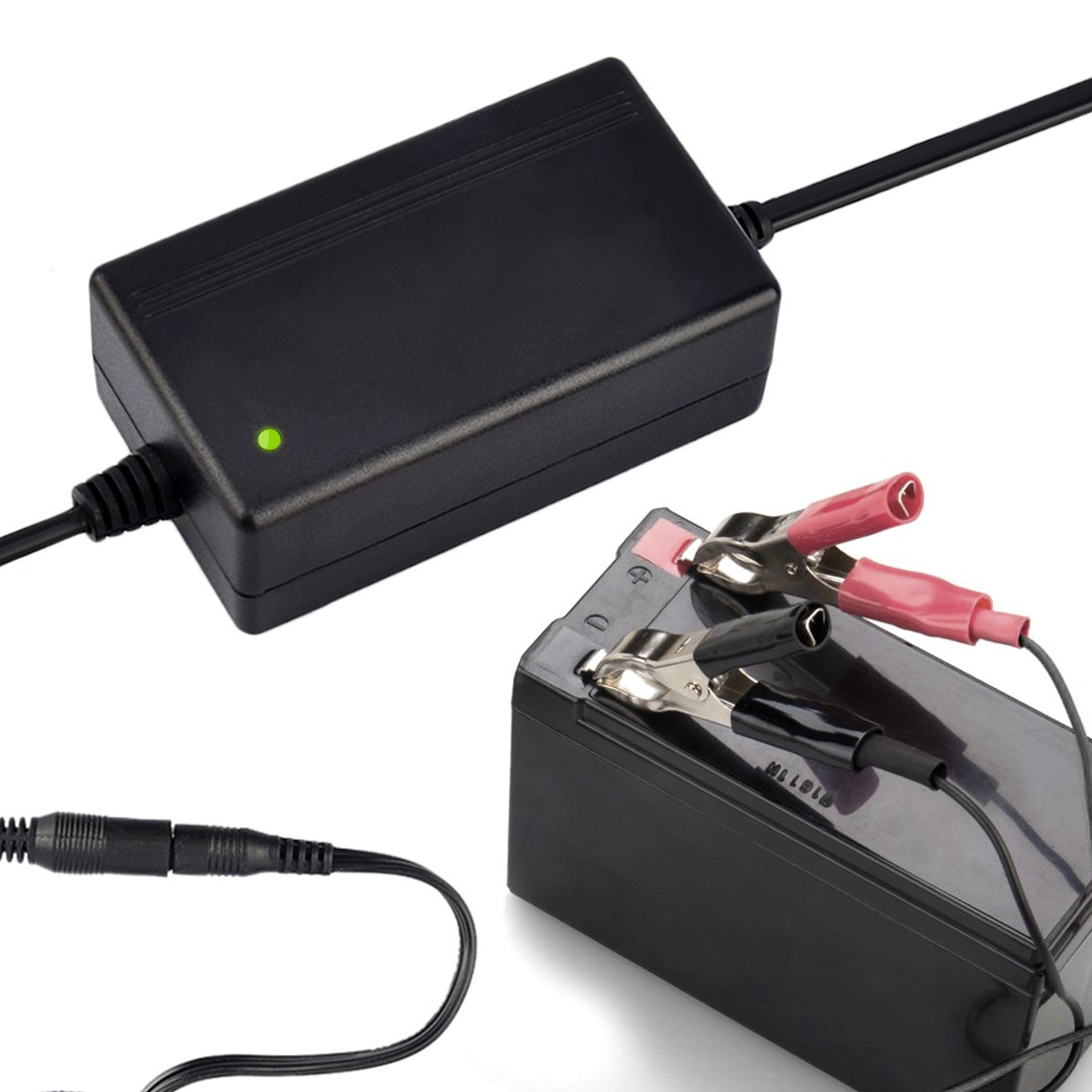 12V 1.5A Portable SLA Trickle Charger Smart Maintainer with Detachable Alligator Ring Clip PeleusTech Battery Chargers