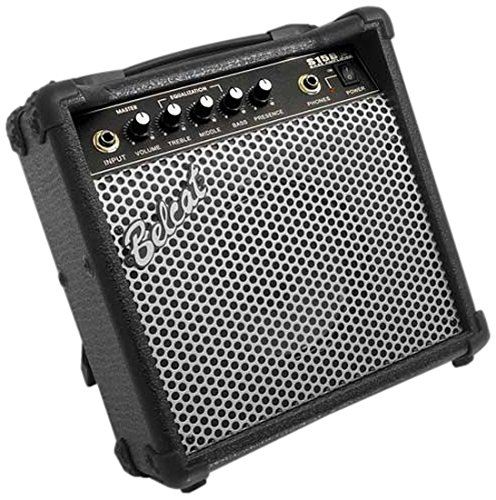 Belcat Slim-15B 15-Watt Slim Profile Electric Bass Guitar Amplifier with Built-In Tilt Stand by Belcat