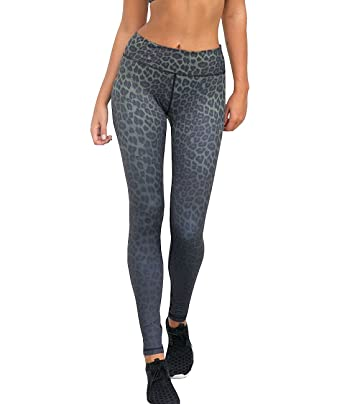 821c82aba826d Amazon.com: Pink Peach Women's Full Length Leopard Print Gym Yoga ...