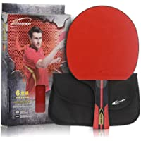 Professional Ping Pong Paddle Advanced Training Table Tennis Racket With Carry Case(1 pc)