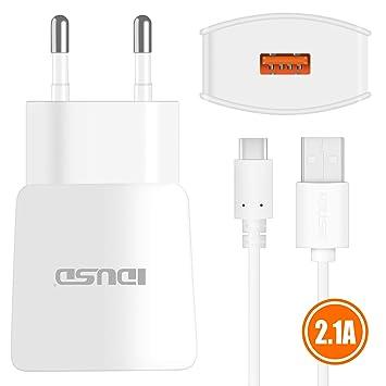 IDUSD Cargador USB C(Tipo-c) 2in1 2.1A para para Samsung ...