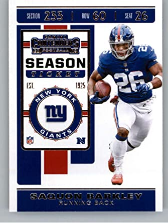 2019 Panini Prestige League Leaders #LL-SB Saquon Barkley New York Giants Football Card