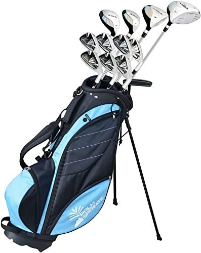 Palm Springs Golf Visa Lady Petite -1 All Graphite Hybrid Club Set Stand Bag