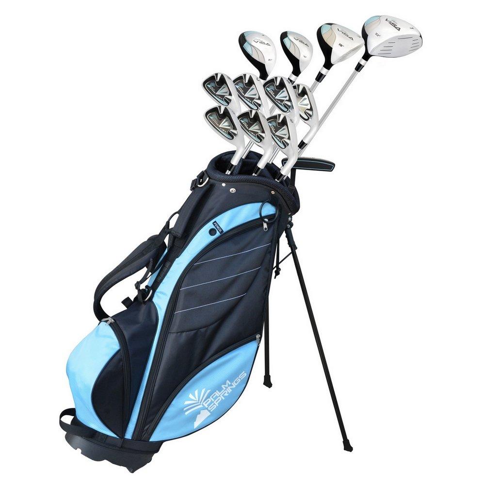 Palm Springs Golf Visa Lady Petite -1 All Graphite Hybrid Club Set Stand Bag