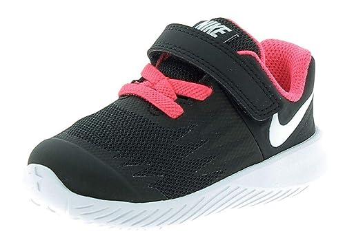 Nike Star Runner (TDV), Zapatillas de Estar por casa Bebé Unisex, Negro (Black/White / Volt/Racer Pink 001), 19.5 EU: Amazon.es: Zapatos y complementos