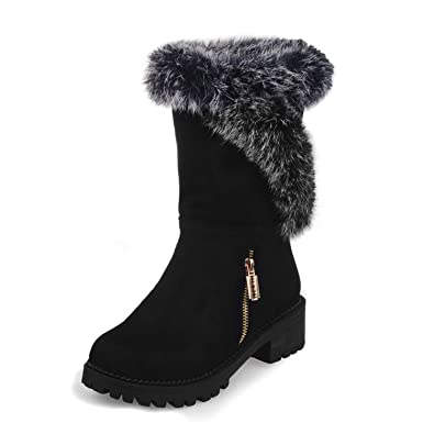 Brooklyn Walk 2018 Plus Size 33-46 Customization Winter Snow Boots Women  Fashion Comfortable Shoes Woman Mid-Calf Boots  Buy Online at Low Prices in  India ... 90b03c5a14ab