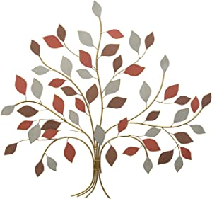 Stratton Home Decor Golden Tree of Life Wall Décor, 33 x 0.98 x 30.71, Multi Color