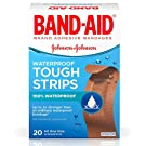 Band-Aid Brand Adhesive Bandages Tough-Strips Waterproof 20-Count
