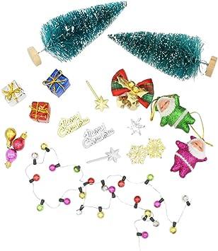 Puppenhaus Miniatur Weihnachten Deko Zubehör Mini Dekoriert Weihnachten Baum