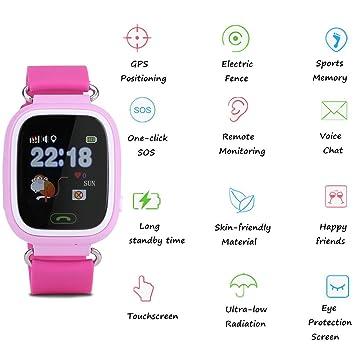 garsent Niños Smart Watch Teléfono Rastreador GPS Pantalla ...