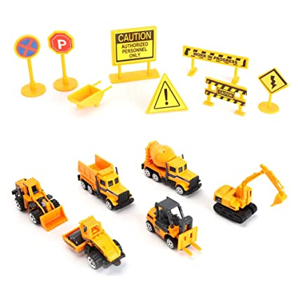 Amazon com : YQich Construction Vehicle Toys Set with Accessories