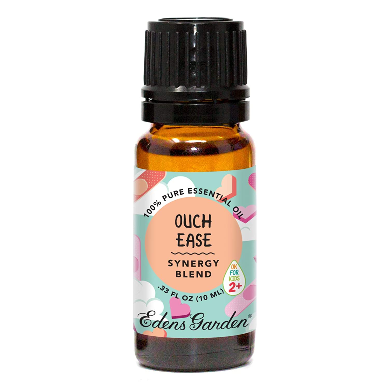 "Edens Garden Ouch Ease""OK For Kids"" Essential Oil Synergy Blend, 100% Pure Therapeutic Grade (Child Safe 2+, Inflammation & Pain), 10 ml"