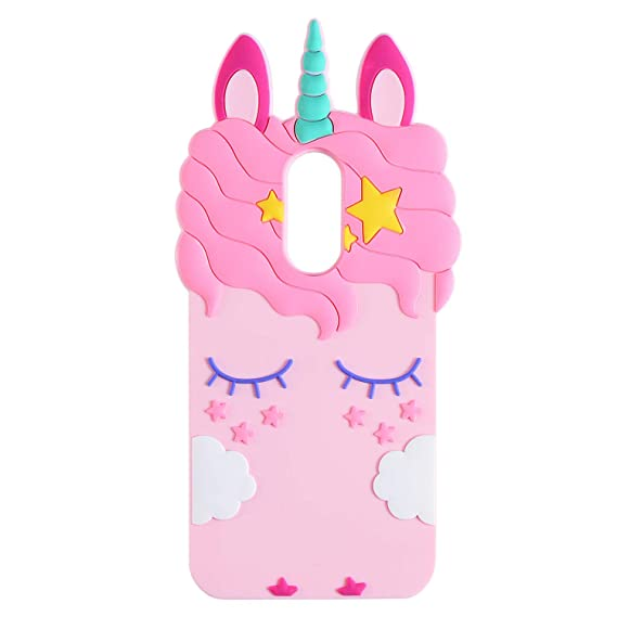 timeless design 0f399 cfe65 TopSZ Pink Unicorn Case for Samsung Galaxy J3 Achieve/J3 Star/Express Prime  3,3D Cartoon Silicone Kawaii Animal Cute Girls Kids Teens Horse Cover for  ...