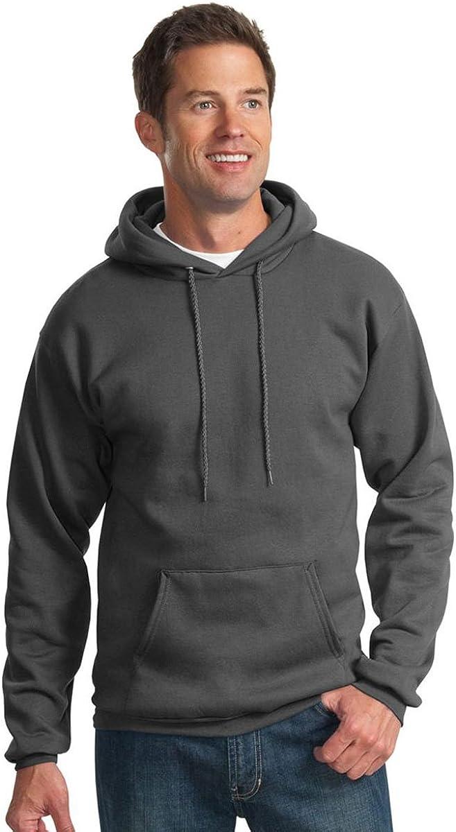 Port /& Company Mens Hooded Fleece Sweatshirt,Medium,Charcoal