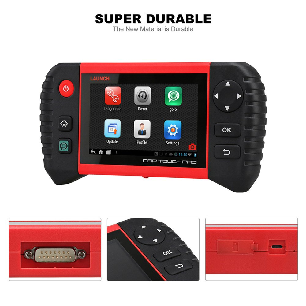 Launch CRP Touch Pro 5 0'' Android Touch Screen OBD2 Diagnostic Scan Tool  for ABS, SRS, Transmission,Engine,Battery Registration, EPB, Oil Service