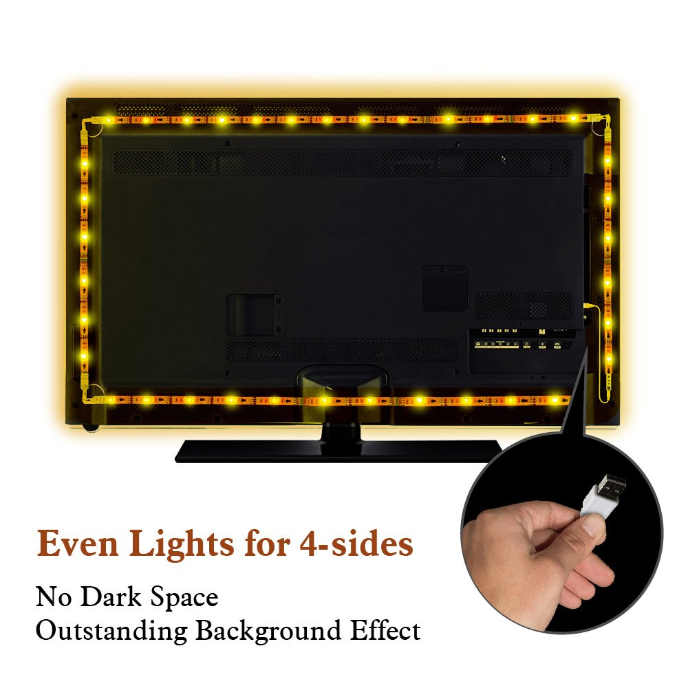 galleon mxtc usb powered led strip backlight for 32 inch to 65 inch flat screen tv with 20. Black Bedroom Furniture Sets. Home Design Ideas