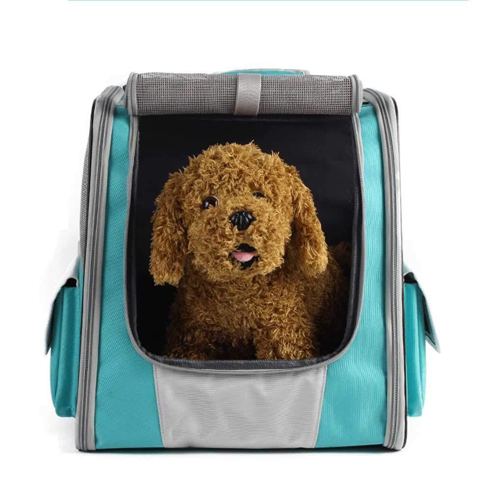 Long Elliot Pet Bag Mesh Breathable Handsfree Oxford Cloth Travel Camping Dog Cat Pet Carrier Bag
