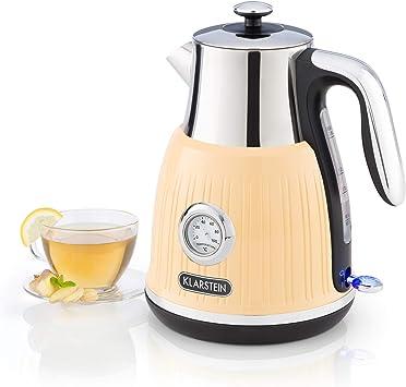 Wasserkocher Teekocher Wasser Kessel Kanne 1,8L Vintage Retro  Grau