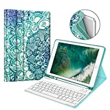 Fintie iPad 9.7 2018 Keyboard Case with Built-in Pencil Holder