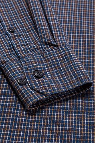 JP 1880 Homme Grandes tailles Chemise à carreaux bleu marine 3XL 706514 70-3XL