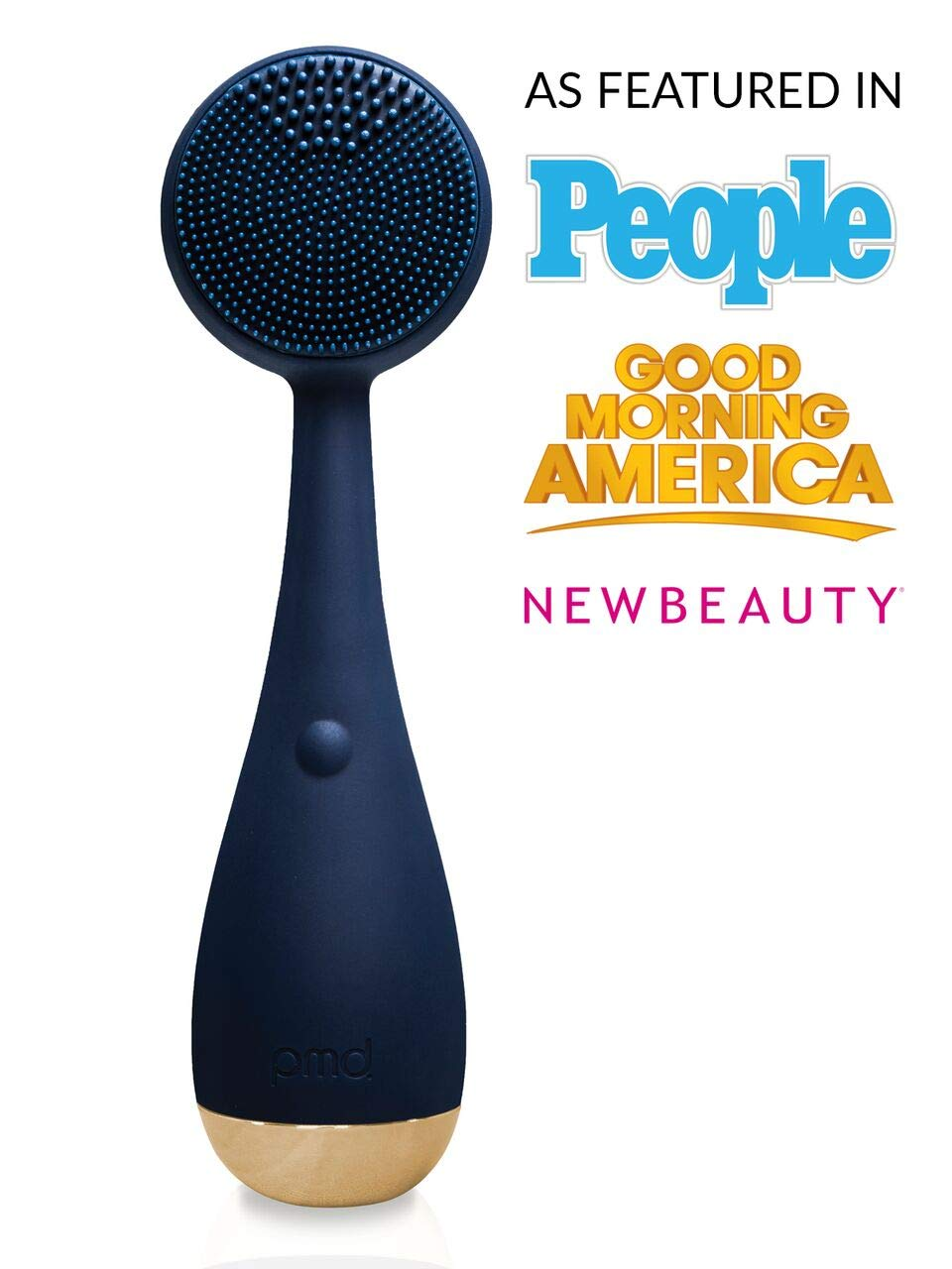 PMD Clean | Smart Facial Cleansing Brush and Face Massager Device for Youthful Skin | Navy with Gold by PMD Personal Microderm (Image #2)