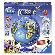 Amazon Lightning Deal 93% claimed: Ravensburger Disney Globe 3D Puzzle Ball (180 Piece)
