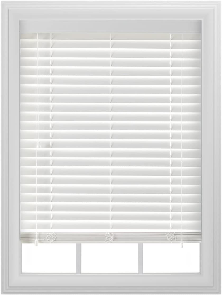 Bali Blinds 2 Faux Wood Corded, 39×64 , White