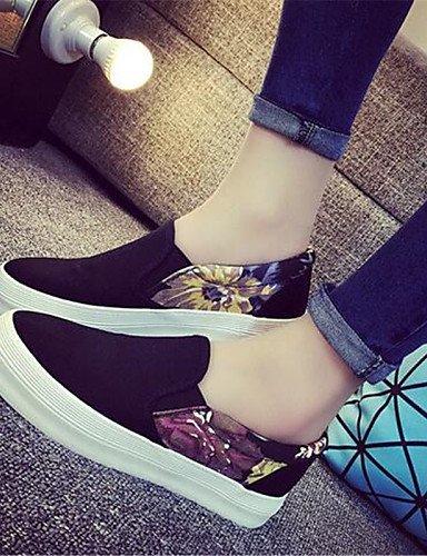 Uk6 Zapatos De tejido Black us6 Eu39 tacón punta casual Blanco us8 Eu36 Mujer Cn36 Bajo Cn39 Gyht White Uk4 negro mocasines Redonda Zq aAnqgg