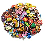 Lot of 20,50,100pcs Random PVC Different Shoe Charms for croc Bands & Bracelet Wristband