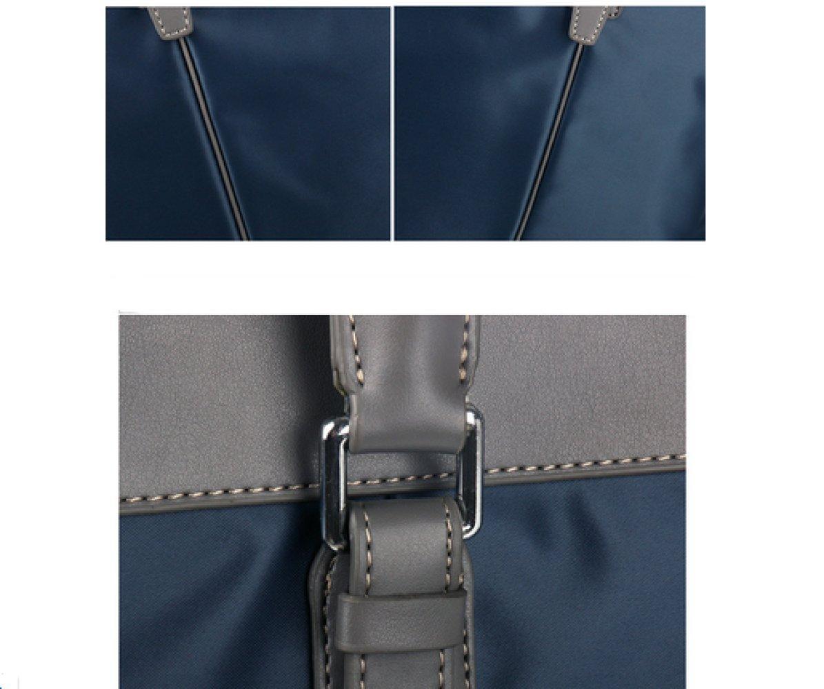 British Style Casual Men's Bag Waterproof Oxford Cloth Handbag Briefcase Shoulder Messenger Bag,Black-L by NUGJHJT (Image #6)