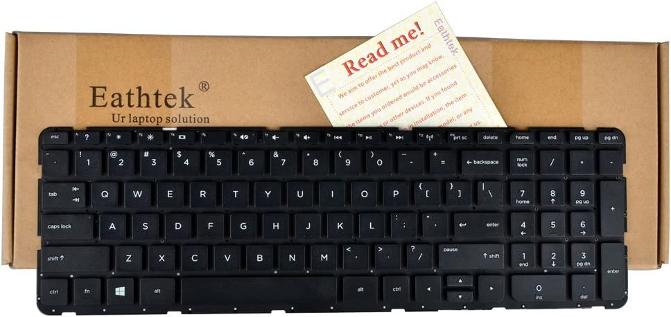 Eathtek Replacement Keyboard without Frame For HP Pavilion 15-N 15-E 15-G 15t-n 15-e078nr 15-N000 15-n010us 15-n012nr 15-G000 719853-001 series Black US Layout