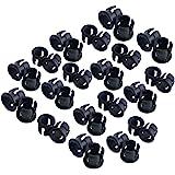 Honbay 100 Pieces Black Plastic 5mm LED Holder LED Light Mounting Holders on Panel