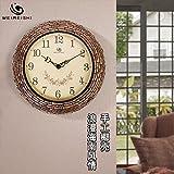 Jedfild Personalized creative handmade coconut shell wall clock modern art garden decorated in muted quartz clock