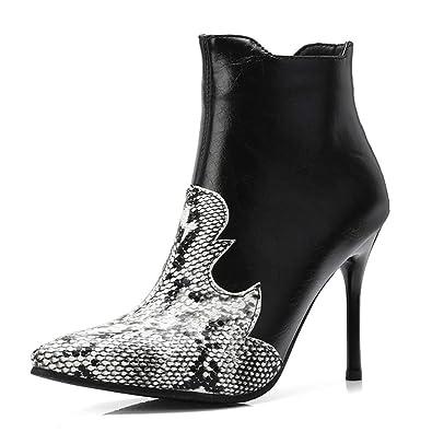 6361bc0dc0e Amazon.com | GIY Women's Sexy Pointed Toe Stiletto Boots Snakeskin ...