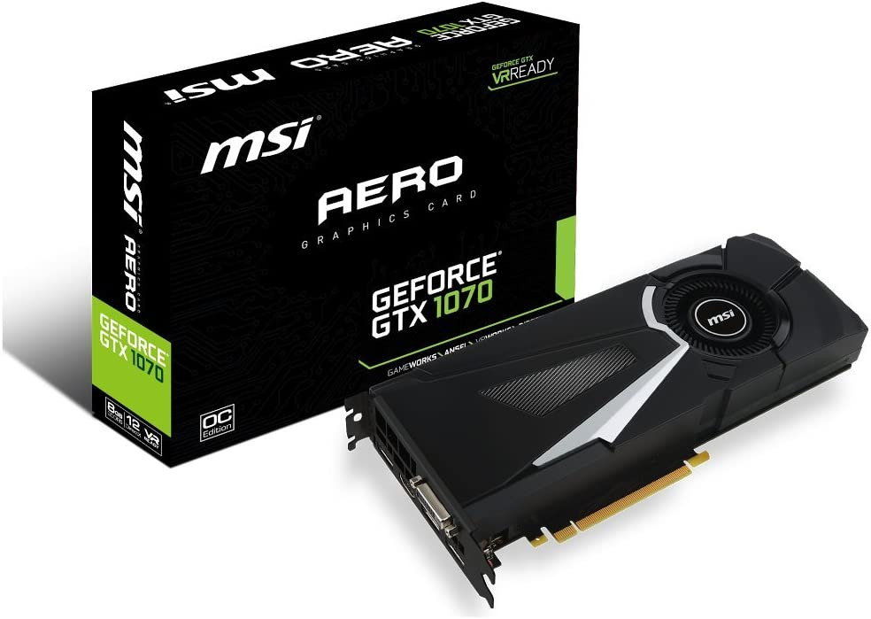 MSI Gaming GeForce GTX 1070 8GB GDDR5 SLI DirectX 12 VR Ready Graphics Card (GTX 1070 AERO 8G OC)