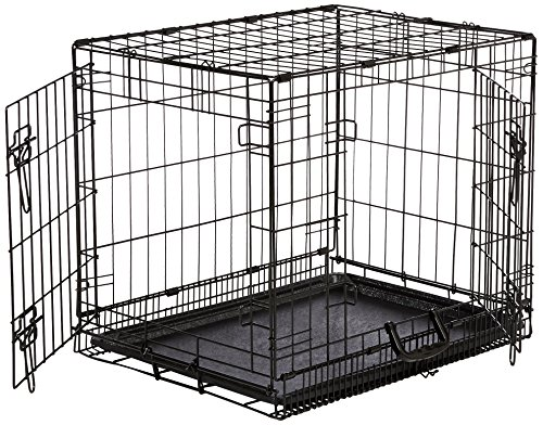 AmazonBasics Double-Door Folding Metal Dog Crate - Small (24x19x18 Inches)