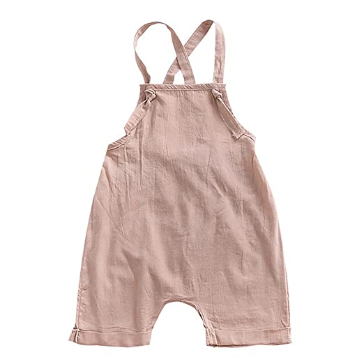 c1a4e51c3 Amazon.com  Loveble Baby Girl Suspender Overalls Infant Jumpsuit ...