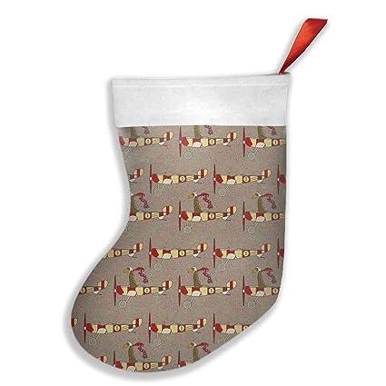 new flight school aircraft small christmas stocking 3d graphic printed holders xmas holiday stocking tube socks